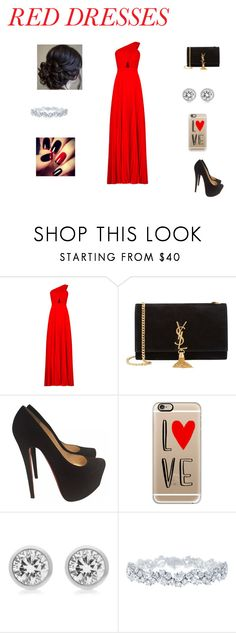 """""""Untitled #42"""" by sparklypink123456 ❤ liked on Polyvore featuring BCBGMAXAZRIA, Yves Saint Laurent, Christian Louboutin, Casetify, Michael Kors, Harry Winston, women's clothing, women, female and woman"""