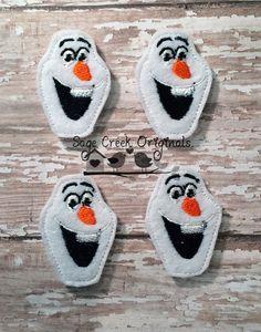 Olaf Snowman Frozen Set of 4 Winter Feltie Felt by WholesaleFelts, $3.95