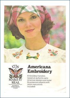 Butterick Transfer Pattern 4308 Americana Embroidery Uncut