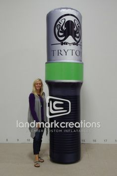 Tryton Exploration Gear Inflatable Flashlight Replica #tradeshow #inflatables #marketing