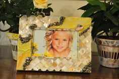 Saunny day mosaic frame by ErnymeDesigns on Etsy, $44.00