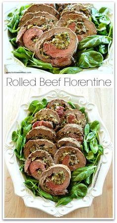 Rolled Beef Florentine: