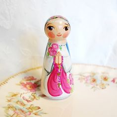 Mystical Rose Wooden statue doll  ***This Mystical Rose doll will be made after purchase. Please allow up to three weeks for shipment. If you