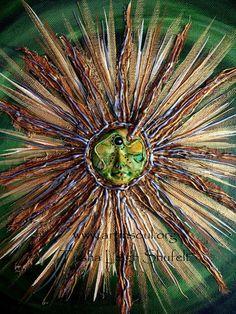Sun Mandala Mixed Media Painting Soul Awakening by ArtInSoulorg