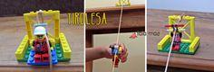Ideia de brincadeira tema lego: tirolesa