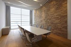 Great ceiling treatment, textured wall...