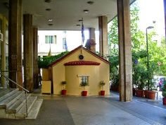 Small church on the street Simple Minds, Great Hotel, Athens Greece, Gazebo, Outdoor Structures, Outdoor Decor, House, Home Decor, Street