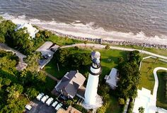 st simons island ga - Google Search The lighthouse from above