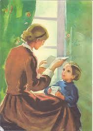 Mother Reading to Child - Martta Wendelin Fun Illustration, Book People, School Posters, Found Art, Fairytale Art, Old Paintings, Kids Reading, Christmas Art, Love Art