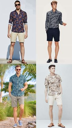 2a6d6b40465 Men s Floral Shirts with Chino Shorts - Summer Fashion Style Outfit  Inspiration Lookbook Summer Looks