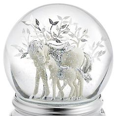 Personalized Horse and Foal Musical Snow Globe , Add Your Message