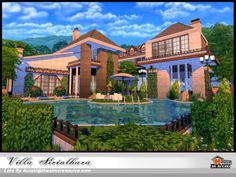 Villa Sirinthara by Autaki from TSR for The Sims 4