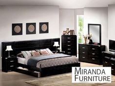 King bedroom furniture sets can give luxury look in your bedroom. Not only make a good view in your bedroom, the king size furniture sets but perfectly fits Black Bedroom Sets, Black Bedroom Furniture, King Bedroom Sets, Master Bedroom, White Bedrooms, Modern Bedrooms, Bedroom Art, Trendy Bedroom, Kids Bedroom