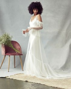The new Savannah Miller wedding dresses have arrived! Take a look at what the latest Savannah Miller collection has in store for newly engaged brides. Wedding Dress Trends, Bridal Wedding Dresses, Dream Wedding Dresses, Bridal Style, Wedding Bride, Wedding Dress Sleeves, Long Sleeve Wedding, Bridal Collection, Dress Collection