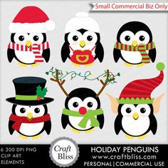 Holiday Penguins by CraftBliss. Visit www.craftbliss.com for freebies and crafty fun. #craftbliss