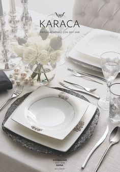 Our Catalogs - Karaca, Wedding Hall Decorations, Blue Wedding Centerpieces, Table Decorations, Black And Grey Bedroom, Grey Bedroom Decor, Table Setting Etiquette, Kitchen Supplies, Dinner Sets, Fine Porcelain