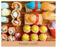 So cute! Peeps Sushi...unique idea! #ExpressYourPeepsonality.