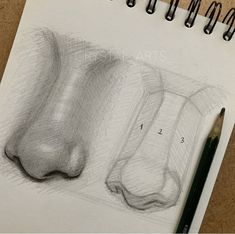 Really Easy Nose Drawing Tutorials & Ideas - Howtodraw. Cool Art Drawings, Pencil Art Drawings, Art Drawings Sketches, Easy Drawings, Art Illustrations, Girl Pencil Drawing, Nose Drawing, Painting & Drawing, Drawing Faces