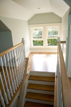 put in a window at the top of stairs. - someday make the window at the stairs bigger