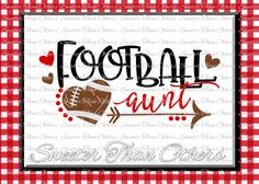 Football SVG Football Aunt Svg Distressed Football pattern Vinyl Design SVG DXF Silhouette, Cameo, Cricut, Instant Download, Football Design by SweeterThanOthers on Etsy