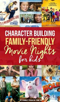 Character Building Family Friendly Movie Nights Character Building Family Friendly Movie Nights for Kids Family Guy, Love My Family, Family Games, Family Room, Movie Night For Kids, Family Movie Night, Best Kid Movies, Good Movies For Kids, Classic Movies For Kids