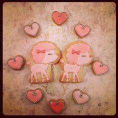 pink poodle cookies - so sweet!