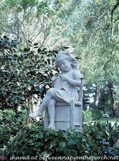 little girl garden statues   Houmas House Plantation and Gardens: Take the Tour