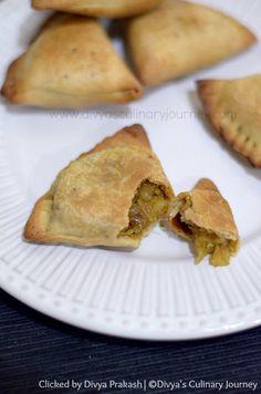Baked Punjabi Aloo Samosa - Punjabi style Potato samosa baked in oven.
