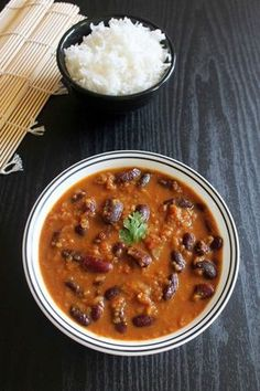 Punjabi Rajma Masala Recipe or Punjabi Red kidney beans curry recipe - a popular North Indian dish with step by step photos. serve with rice.