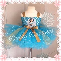Princess Jasmine Tutu Dress Sparkly Tutu Party Sparkle Glitter Princess Dress #DiddyDarlings #CasualFormalParty