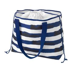IKEA - SOMMAR 2016, Beach bag, You can easily take your wallet and keys with you in the detachable pocket if you leave the beach bag unattended.You can expand the bag if you need extra room for towels, beach toys or purchases.Everything stays safely inside, as the bag closes tightly with a drawstring.