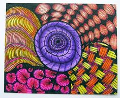 """That´s the result of Mafê Mavromati at the hospital for 12 days with her baby.  """"At least I had time to tangle and color a lot when she was sleeping!"""""""