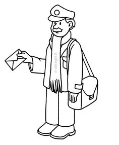 Midisegni.it - Disegni da colorare per bambini Human Drawing, Line Drawing, Coloring Book Pages, Coloring Pages For Kids, Community Helpers Crafts, Simple Character, Math Groups, Illustration Artists, Art Illustrations