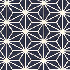 Asanoha blau/weiß *japanischer Stoff Geometric Stencil, Geometric Patterns, Fabric Patterns, Sandblasted Glass, Stencil Painting, Tiling, Glass Design, Sacred Geometry, Cnc