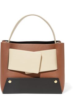 038a7f6dc4 Yuzefi - Dinky small color-block textured-leather tote