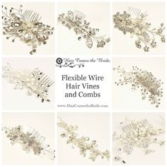 Flexible Wire Hair Vines and Combs by Hair Comes the Bride