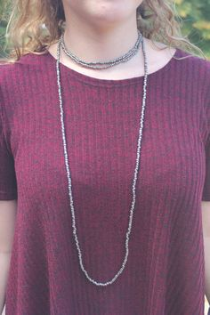 Double Wrap Necklace W/ small beads by BeadzOnAString on Etsy