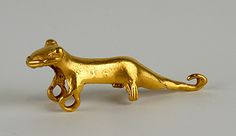 Unknown, Veraguas-Gran Chiriqui  Pendant in the Form of a Lizard or Jaguar, 1000 - 1530 CE Veraguas-Gran Chiriqui Metalwork; Made in Panama Gold-copper alloy =