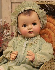 """Big 23"""" Dionne Madame Alexander Antique Old Vintage Composition Cloth Baby Doll   eBay"""