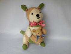 Kangaroo Plush Toy, Kangaroo Stuffed Animal, Stuffed Toy, Sock Monkey, Plushie by SockSockWorld on Etsy