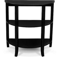 London 3 Tier Hall Table Black Home Decor Entryway Accent Table | eBay