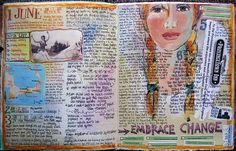 Love her journaling pages!! Inspiring!  Judy Wise