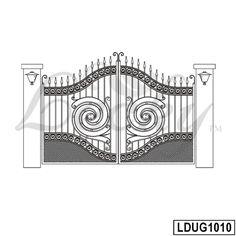 Iron Main Gate Design, House Main Gates Design, House Front Design, Wrought Iron Decor, Wrought Iron Gates, Front Door Design Wood, Fence Design, Iron Garden Gates, Steel Gate Design