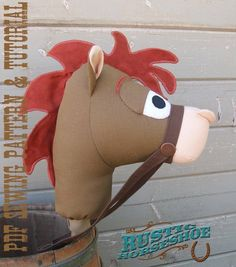 Stick Horse Sewing Pattern and Tutorial Rustic Horseshoe's Sheriff's Posse Collection Stick Horse Hobby Horse Horse Template, Cumple Toy Story, Stick Horses, Hobby Horse, Toy Story Party, Fun Hobbies, Sewing Kit, Pdf Patterns, Classic Collection