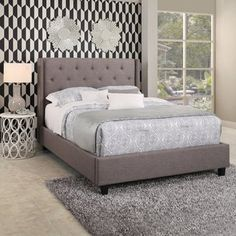 Shop for Abbyson Carter Tufted Upholstery Platform Bed. Get free shipping at Overstock.com - Your Online Furniture Outlet Store! Get 5% in rewards with Club O! - 21014238