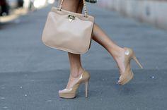 Love the shoes, love the bag    via. Design à Porter
