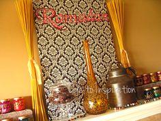 Ramadan Mantel #Eid #Ramazan beautiful Ramadan decor! I LOVE this!! Also see her countdown calendar!!