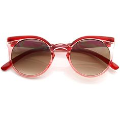 Vintage Retro 1950s Round Fashion Frame Sunglasses 8619 ❤ liked on Polyvore featuring accessories, eyewear, sunglasses, circular sunglasses, vintage round glasses, cateye sunglasses, round circle sunglasses and round sunglasses