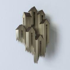 Magnifiques architectures flottantes de lartiste barcelonais David Moreno