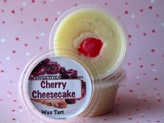 Cherry Cheesecake wax melt scent shot tart cups by SweetFixations